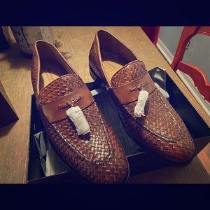 Johnson & Murphy Stratton woven Tassel shoes